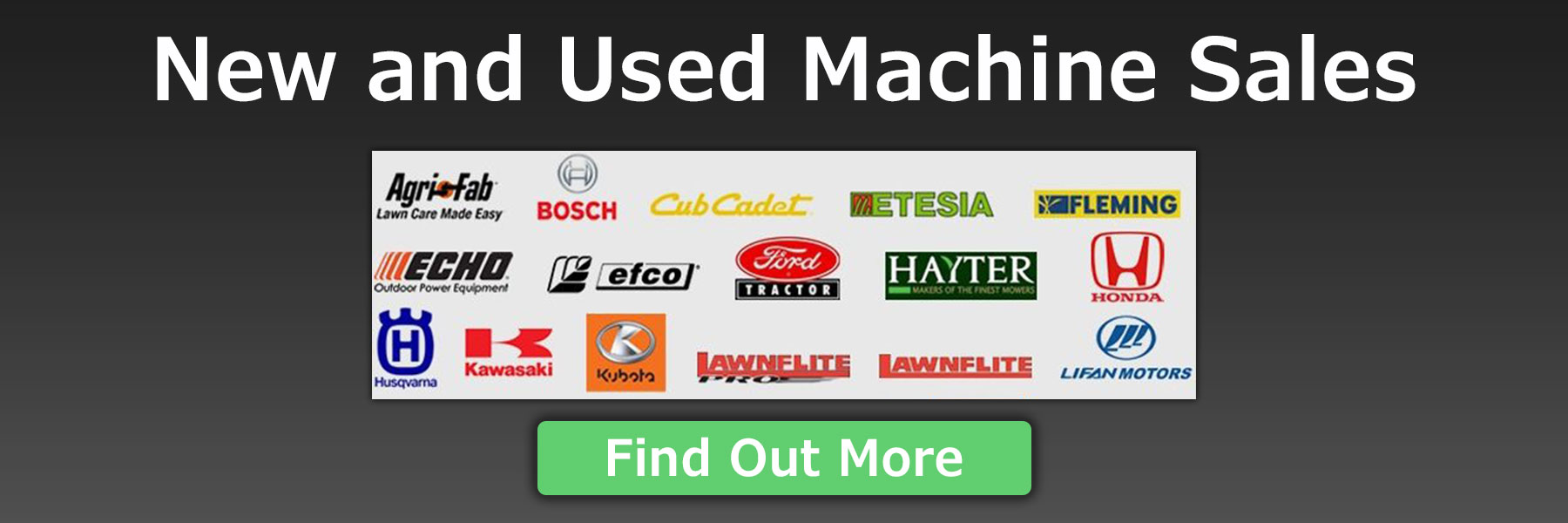 Branded garden machinery for sale