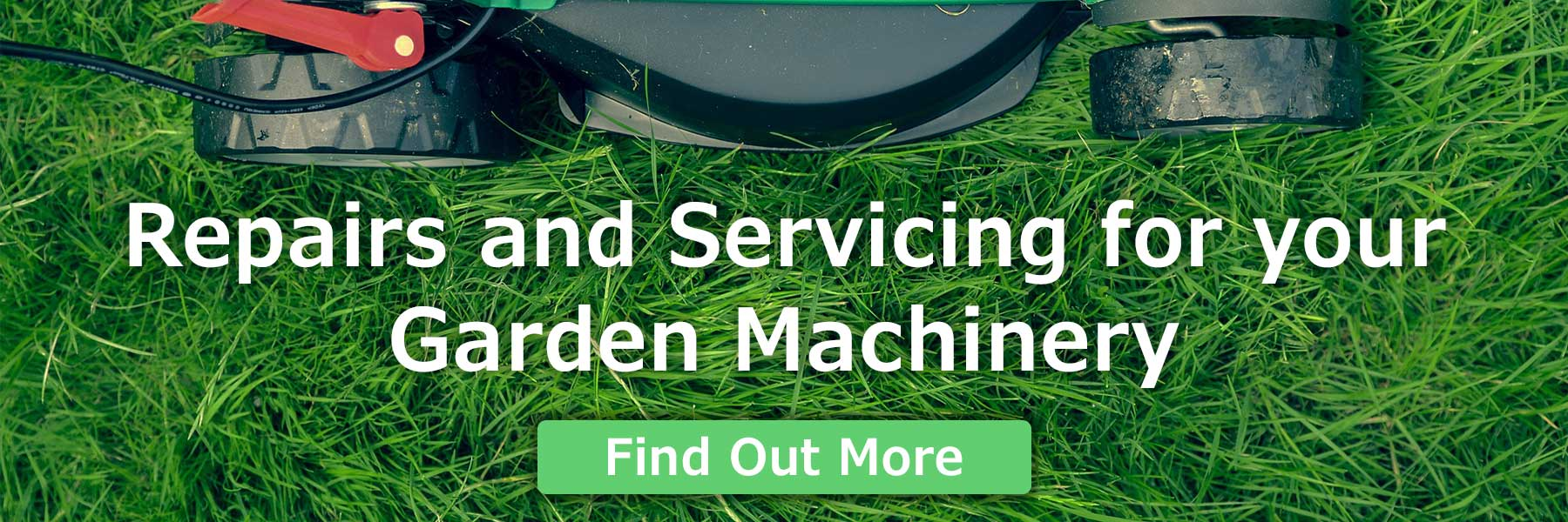 Garden machinery repairs and servicing banner